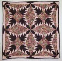 "Julie Holbrook's second quilt ""Pine Burr"" 1992"