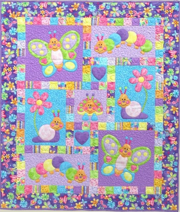 Bugsy  by Kids Quilts 44X52