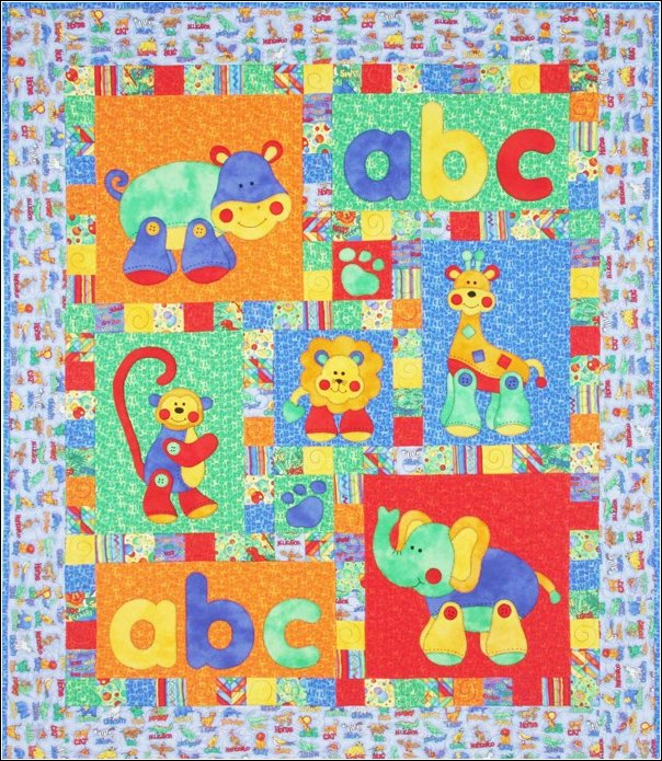 Alphabet Jungle by Kids Quilts Quilt Patterns For Kids Quilts