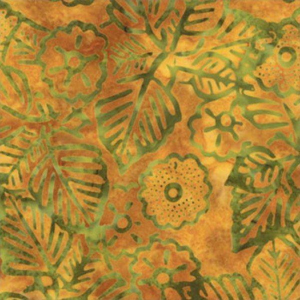 Tropical Leaves on Gold
