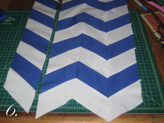 Chevron Clutch Sewing tutorial step 6