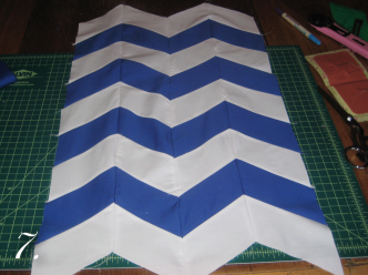Chevron Clutch Sewing tutorial step 7
