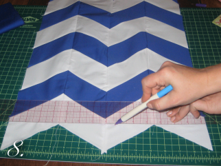 Chevron Clutch Sewing tutorial step 8
