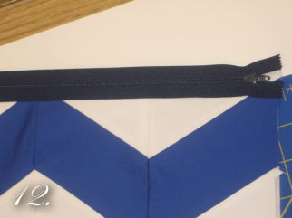 Chevron Clutch Sewing tutorial step 12