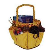 Sassy Kat Organizer Pattern holds favorite crafts. Recycles kitty litter buckets.