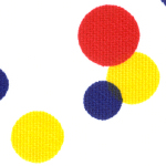 Primary Colored Circle Print Fabric