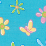 Floral and Butterfly Print Fabric