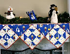 Fireplace Mantel Scarf /  Patchwork Quilting, #30 2006 / Photo courtesy of Quilt Magazine