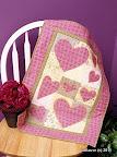 Hearts A'Flutter Appliqué  / Quilts, #22 2005 / Photo courtesy of Quilt Magazine