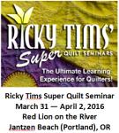 Ricky Tims Super Quilt Seminar
