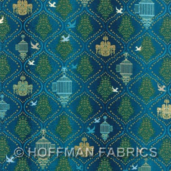 Hoffman Fabrics Birds and Blossoms K7116-61G