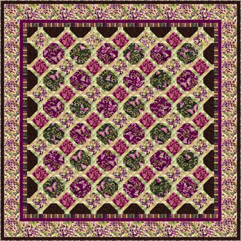 Magnolia trellis quilt pattern for Garden trellis designs quilt patterns