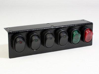 Under Dash Illuminated 6 Rocker Switch Panel