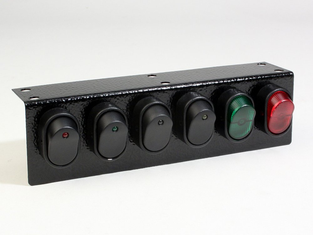 under dash illuminated 6 rocker switch panel