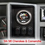 off road jeep cherokee and comanche switch and gauge panel