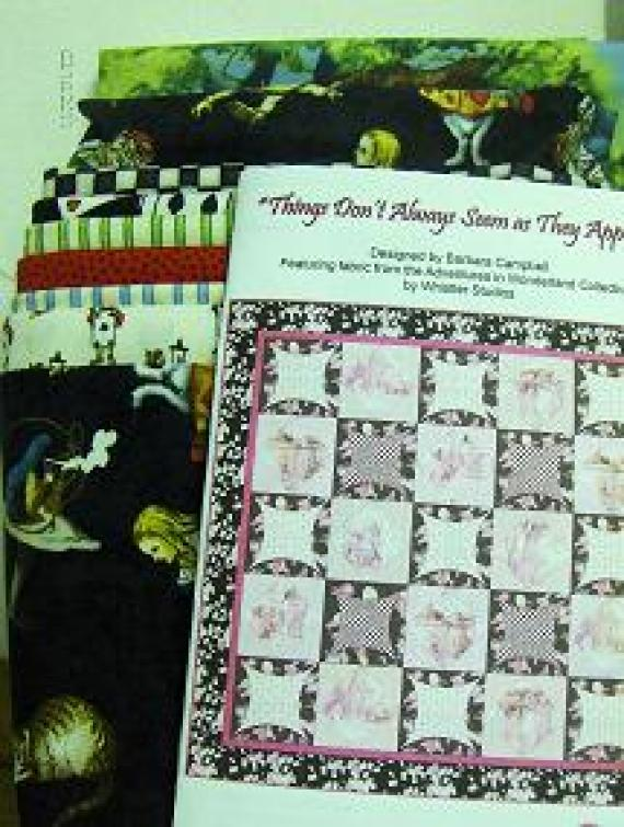 Alice in Wonderland Quilt Kit