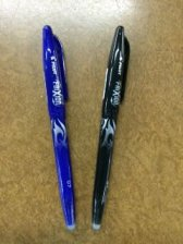 Frixion Black & Blue Pens