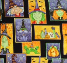 Henry Glass Toil & Trouble Complementary Fabric