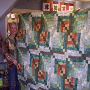 Sleepy Valley Quilt Co. customer Jan Jones made this colorful quilt using Bali Pops. Quilt Pattern is Bali Kaleidoscope