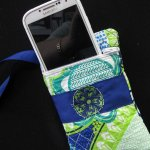 cell phone holder, wristlet, embroidery, fun party