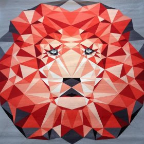 Jungle Abstractions: The Lion by Violet Craft