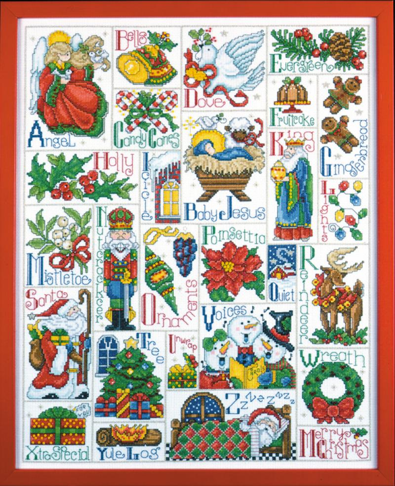 5458 Christmas Abc Sampler 021465054582