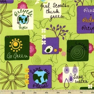 Girl Scout USA by Robert Kaufman Fabrics (AGS-9644-7-GREEN)