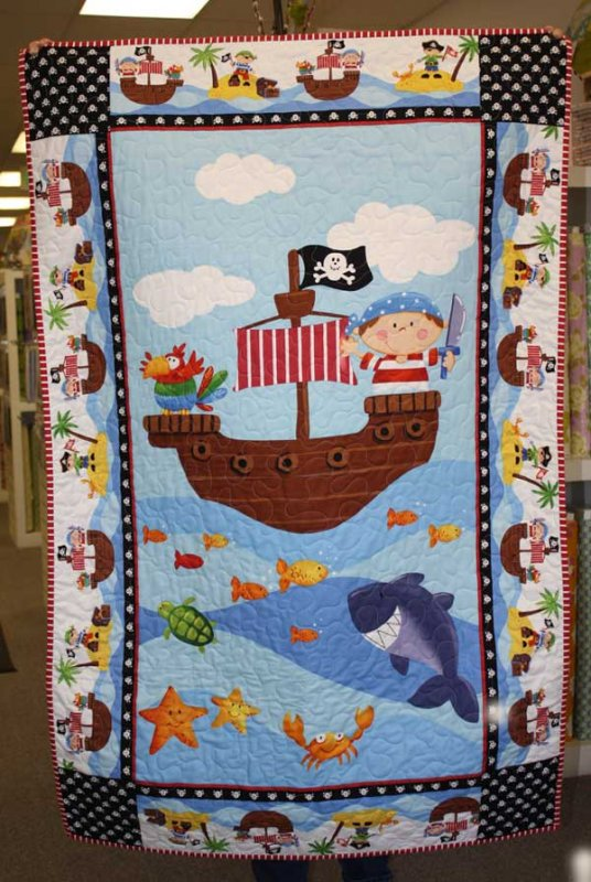 ahoy matey fabric panel