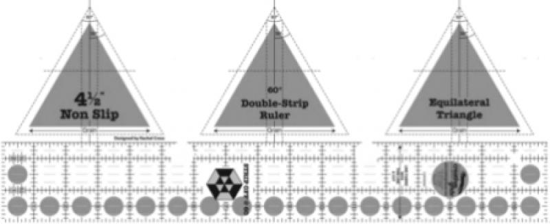 Creative Grid Ruler - 60 Degree Double Strip