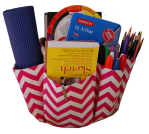 The Go Bucket holds art and sewing supplies and makes a quick and easy class.