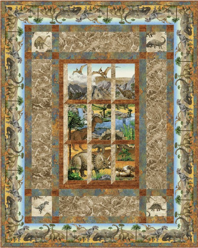 Quilt Patterns For Stonehenge Fabric : Out My Window Quilt Pattern