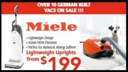 Save on Miele Vacuum Cleaners