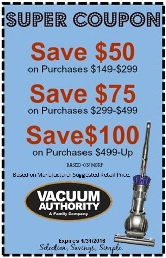 Super Coupon Savings at Vacuum Authority Stores
