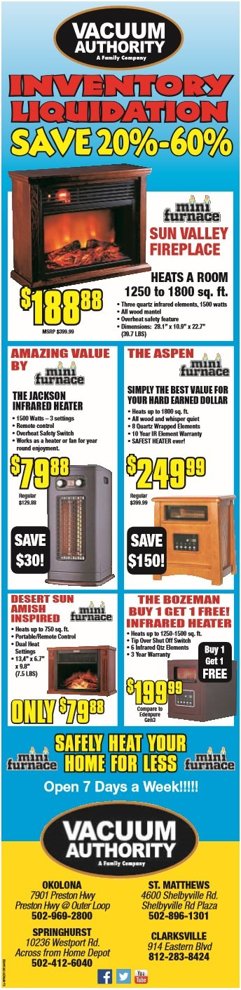 Vacuum Authority January 2016 Discount Sale on Vacuums, Heaters and More