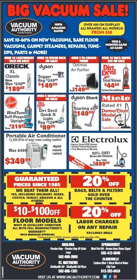 Vacuum Authority Sales May 2016