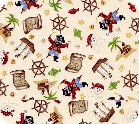 Children 39 s fabric for Kids pirate fabric