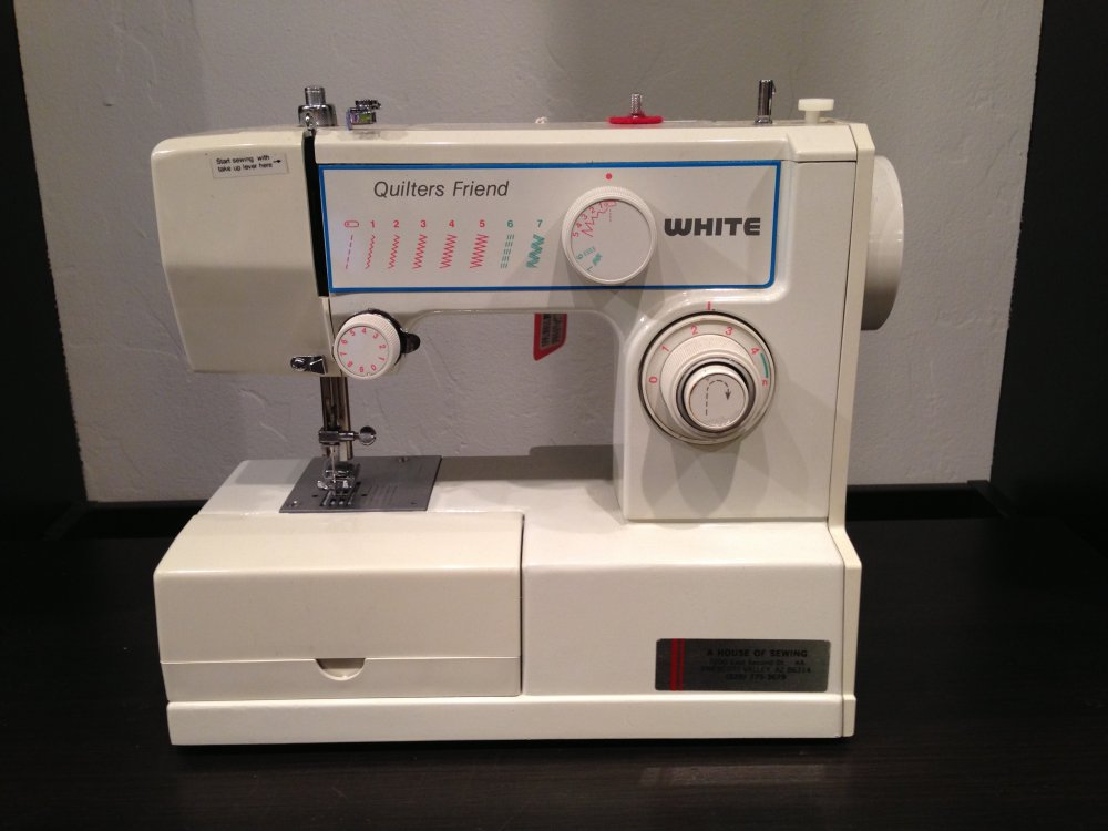 white quilters machine