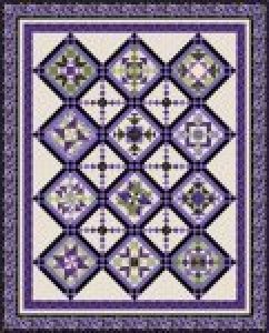 LOVELY IN LAVENDER COMPLETE QUILT KIT