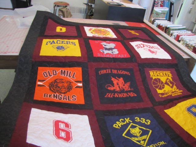 Quilt Made of T-Shirts