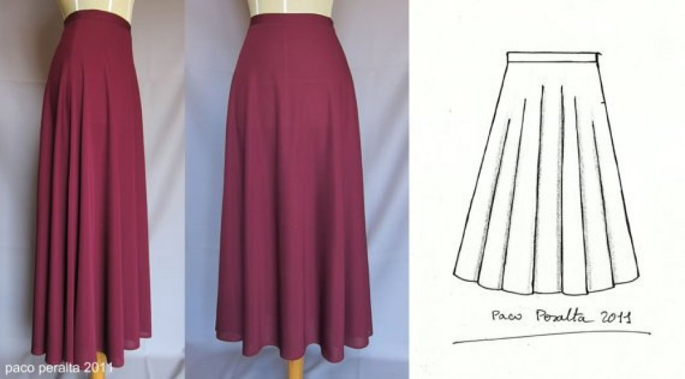 Длинная юбка в пол полусолнце как сшить 6