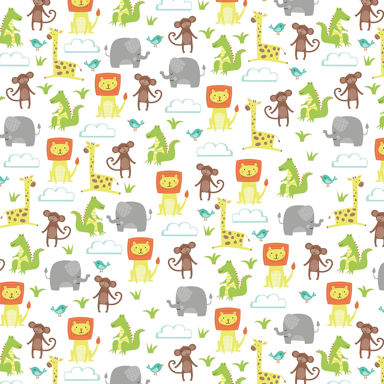 Jungle jubilee 321526075157 for Childrens jungle fabric