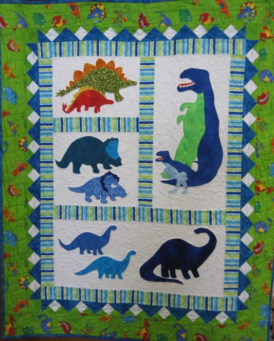 Dinosaurs Quilt Kit On Sale