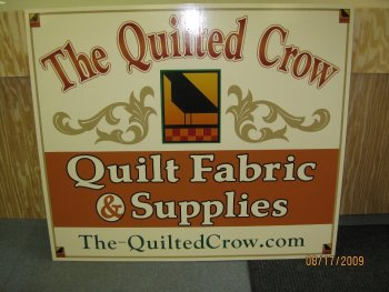 The Quilted Crow Fabric Sign