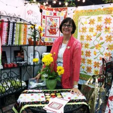 Jill Finley of Jillily Studio Poppy Patio fabric collection by Henry Glass