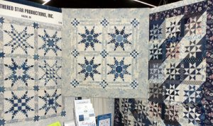 Feathered Star Productions Everything Blue fabric collection by Clothworks