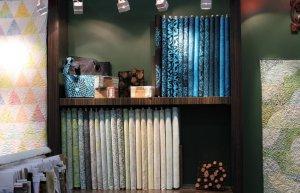 Tonga Atlantis (blue) and Tonga Sea Glass (green) fabric collections by Timeless Treasures