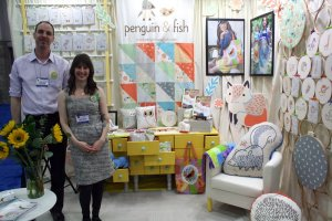 Alyssa Thomas of Penguin & Fish Critter Patch fabric collection by Clothworks