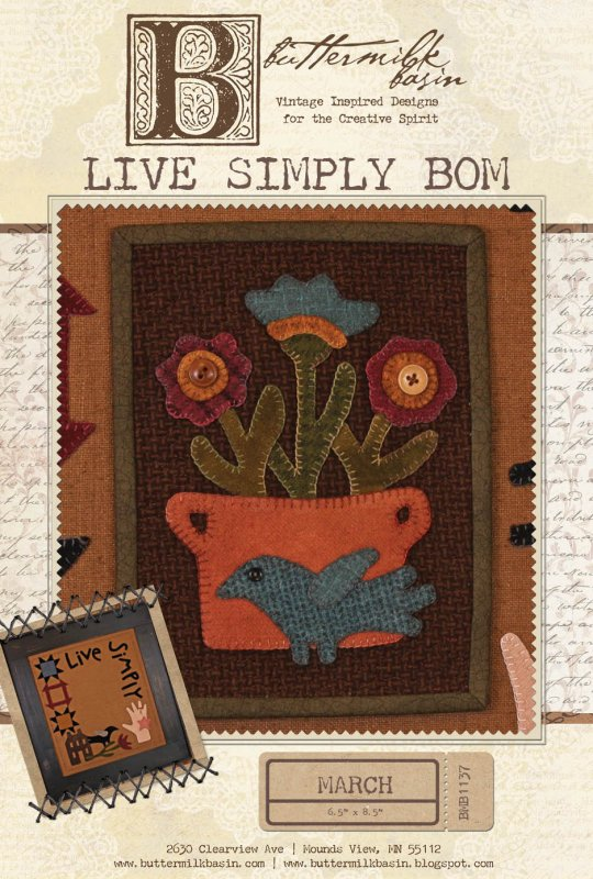 Live Simply: March Mini Quilt