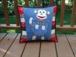 Clever Monkey Pillow by Back Pocket Designs