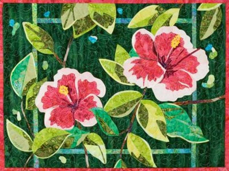 Bigfork Bay Cotton Co-Hibiscus by Brenda Yirsa